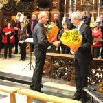 Dirigent Bart Lesage met organist Dirk Blockeel